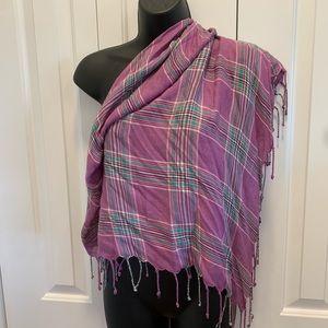 🎊BOGO 50%🎊 Purple/green plaid scarf